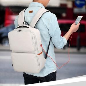 Image 4 - Kính Cận Unisex New Thời Trang Kinh Doanh Du Lịch USB Ba Lô Laptop Canvas Túi Máy Tính Lớn Dung Tích Ba Lô Nam Nữ Hành Lý