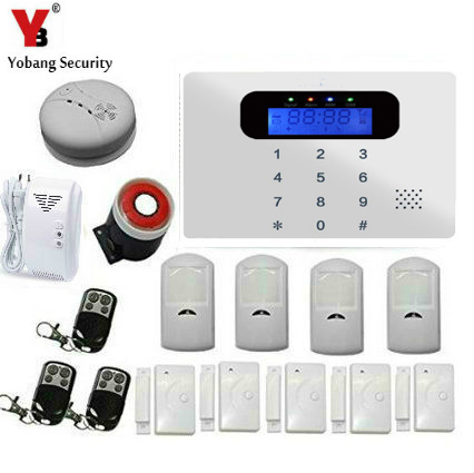 YobangSecurity Russian/Spanish/French /Italian/Czech/Portuguese Touch keypad GSM Home Security Alarm System Kit with Auto Dial yobangsecurity wireless auto dial home security alarm system english russian french spanish italian czech voice gsm alarm system