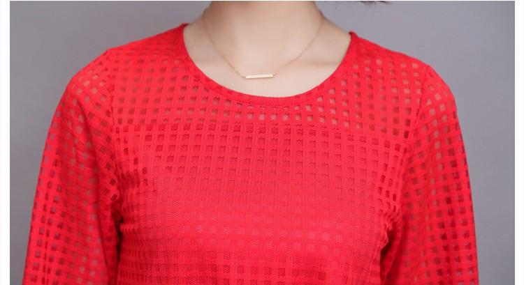 HTB1LwDlIVXXXXaOXpXXq6xXFXXX6 - 3/4 Sleeve Lace Blouse Hollow Out Women Summer Blouses Shirts