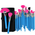 New Professional 32 Pcs Makeup Brush Set Cosmetic Kit Foundation Powder Make up Brushes Beauty Facial care+Bag Blue Rose