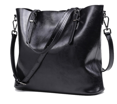 ELIM&PAUL Brand Women Genuine Leather Handbags High Quality Oil Wax Cow Leather Ladies Hand bags Fashion Women Shoulder Bags elim