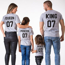 family t shirt mommy and me clothes father son matching t-shirt for mother daughter mom daddy dad outfits girls boys kids tshirt(China)