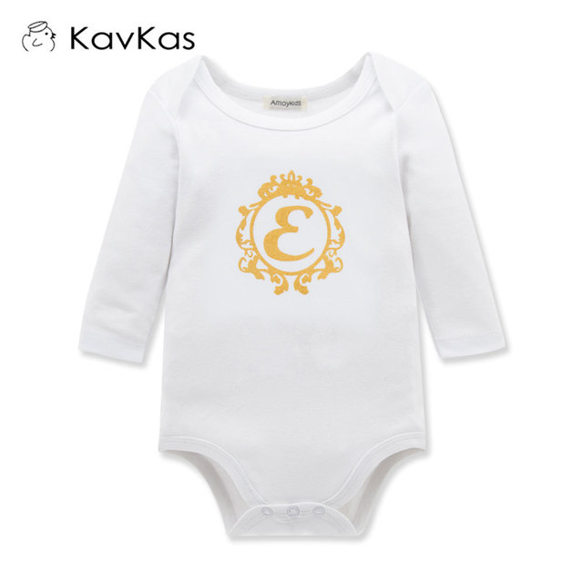 2ed7ec4a8b56 KAVKAS Spring Autumn Baby Cotton Rompers Newborn Baby Clothes Girls ...