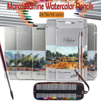 Marco Raffine Premier Colored Pencils Water Soluble Drawing Pencil For Professional Sketch Artist Secret Garden Coloring