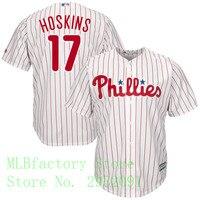 MLB Men S Philadelphia Phillies Rhys Hoskins Majestic White Home Cool Base Player Jersey