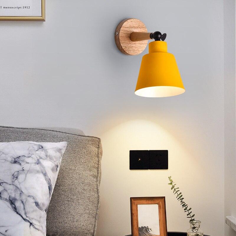 Купить деревянный светодиодный настенный светильник прикроватный настенный