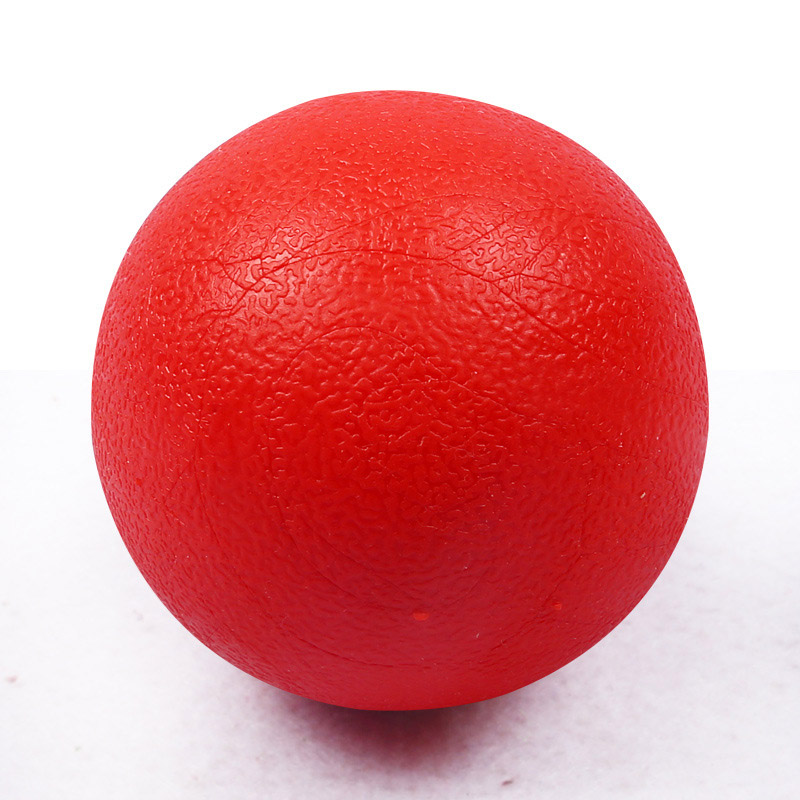 Funny Pet Dog Toy Red Solid Elastic Pet Ball Toys Puzzle Rubber Chew Game Training FP8 MY1618