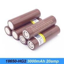 Bateria 18650 ampères hg2 3000 mah 20 para cigarro eletrônico rx200 Turmera flshlight 18650 baterias recarregáveis para chaves de fenda