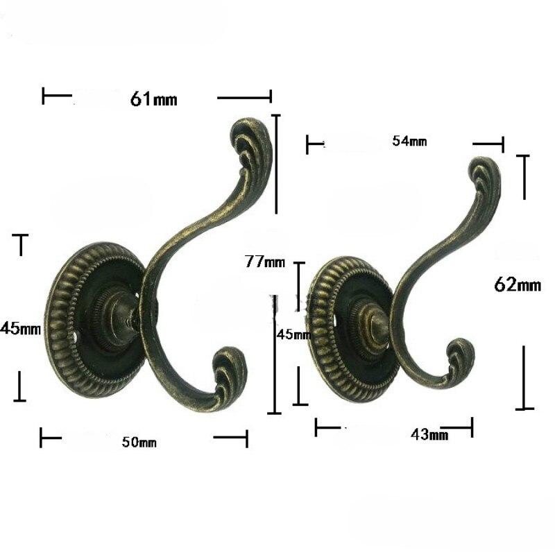10 Teile Metall Antik Bronze Wandtür Schlüsselhaken Hänger für Hut Mantel Tasche