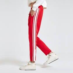 Eosnyx Джастин Бибер Винтаж Striped Joggers Для мужчин хип-хоп Jogger Штаны уличная пот Штаны Pantalon Homme трек Штаны