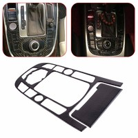 DWCX Carbon Fiber Strip Gear Shift Control Center Panel Cover and Ashtray CoverTrim Fit for Audi A4 A5