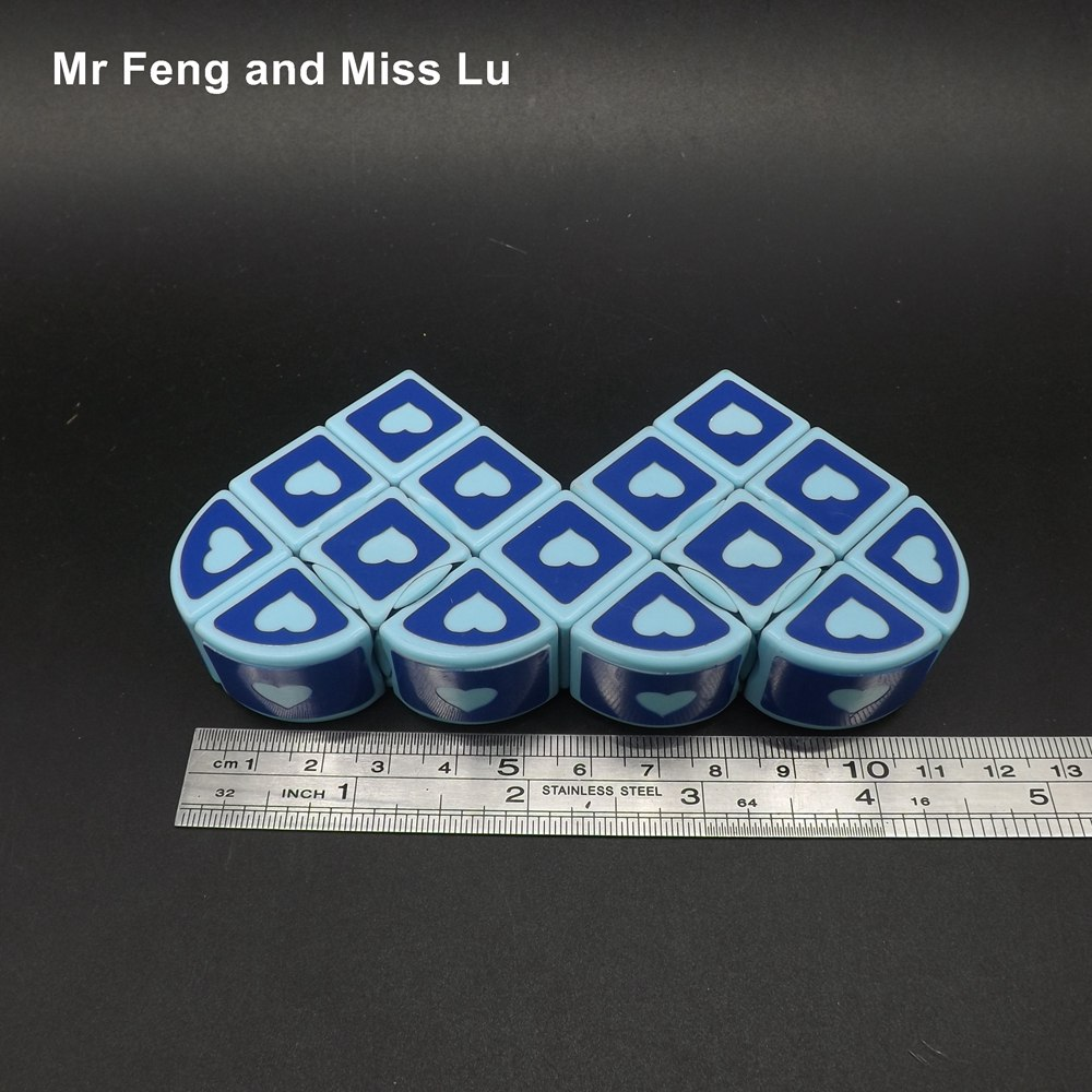 Collection Cube Fancy Heart Magic Cube Puzzle Game Anti Stress Toy ...