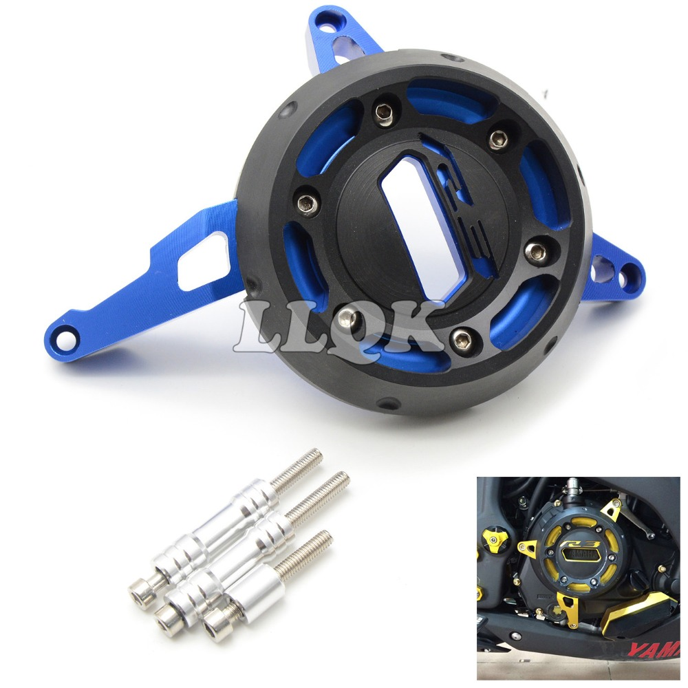 CNC Engine Protective Cover Motorcycle Engine Stator Cover For YAMAHA  YZF-R3 YZFR3 YZF R3 2015 2016  motorcycle cnc aluminium engine protective protect cover right side for yamaha yzf r3 yzf r3 r3 15 16 2015 2016