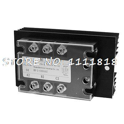 Control AC 90-280V to Load AC 380V 40A SSR Solid State Relay w Heat Sink high quality dc to ac solid state relay ssr 60da 60a 4 32v 75 480v aluminium heat sink