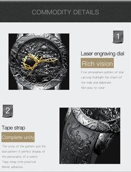 Montre Homme Diamant Noir | Homme Montres Or Noir étanche BIDEN 2018 Nouveaux Hommes Montres Quartz Mode Silicone Sculpture Diamant Citoyen Mouvement