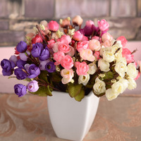 vase/ 18 heads of small flowers autumn tea bud thumb star rose bud shooting photography background . artificial flowers cheap