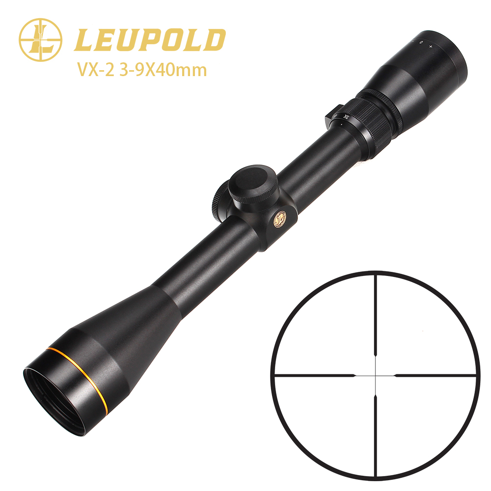 LEUPOLD VX2 3 9x40 Practical Rifle Scope Magnification3x 9x Large Lens Second Focal Plane W/ Waterproof Fogproof and Shockproof