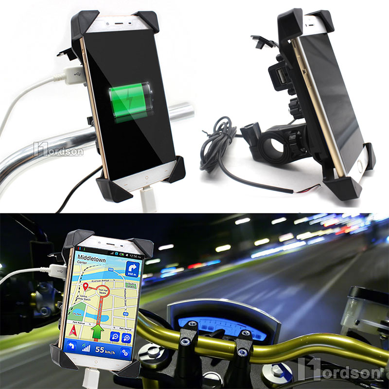 12 V USB Charger For Honda Yamaha Kawasaki Phone Holder Bike Phone Charger Holder
