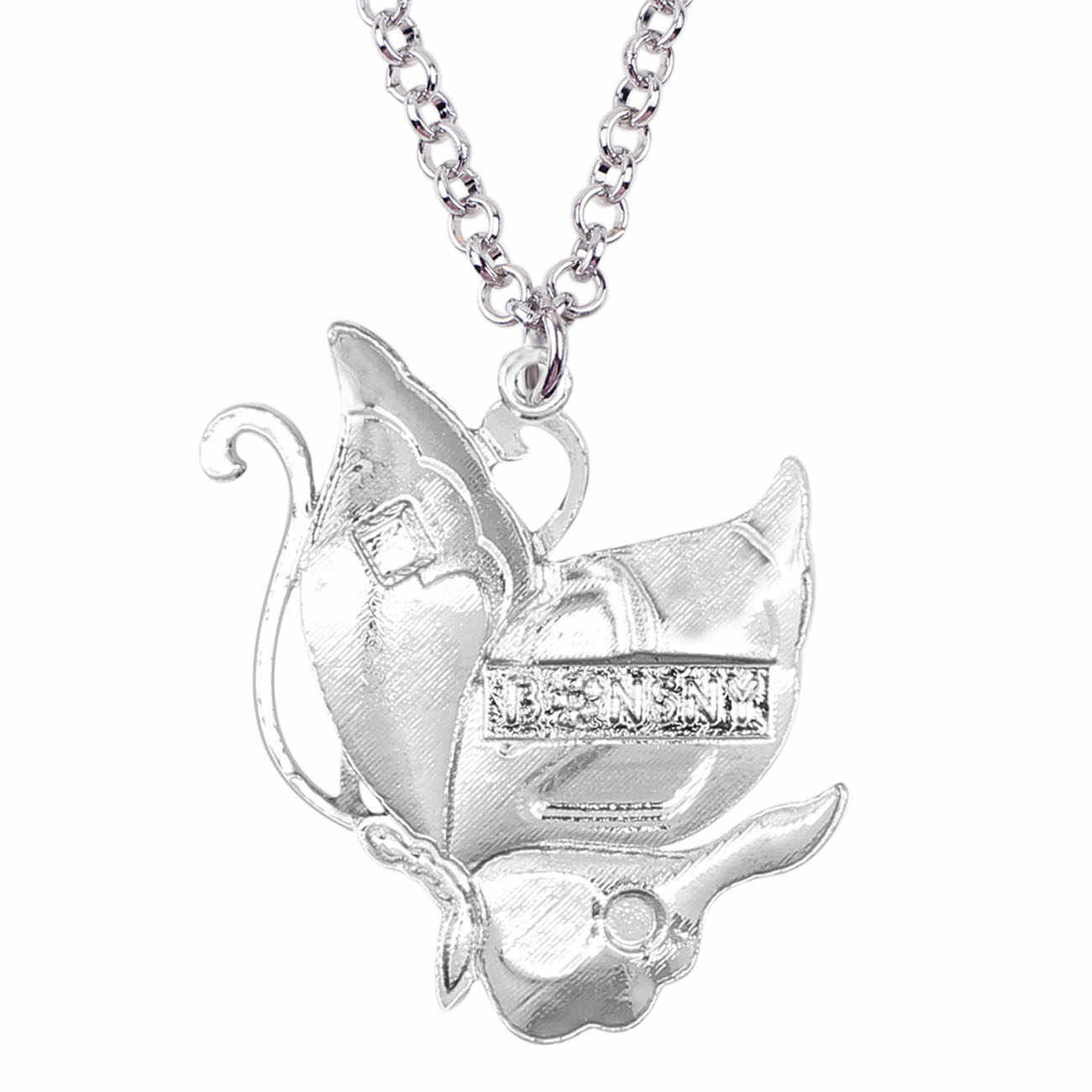 Bonsny Enamel Rhinestone ที่ไม่ซ้ำกัน Fairy ผีเสื้อจี้สร้อยคอแฟชั่นเครื่องประดับสำหรับผู้หญิงหญิงคนรักวันเกิดของขวัญ