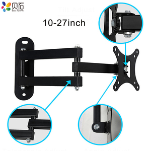 """Image 3 - Full Motion TV Wall Mount Monitor Wall Bracket with Swivel and Articulating Tilt Arm Fits 10 27""""LCD LED Flat Screens up to 22lbs"""