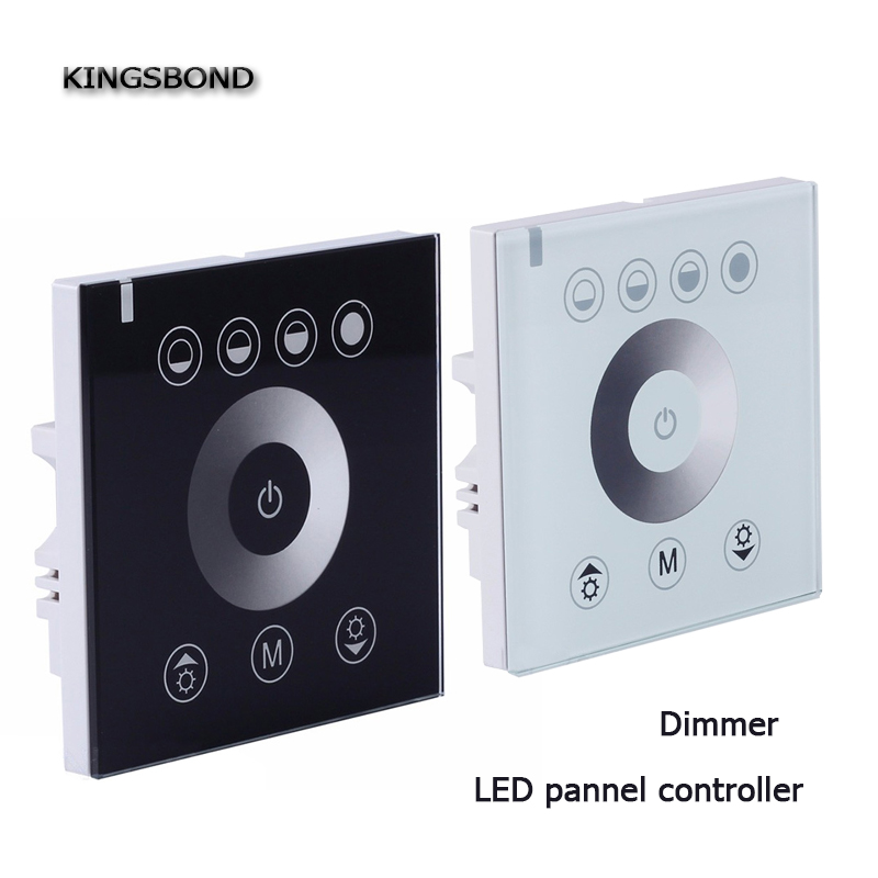цена на Led dimmer Touch LED controller pannel smart switch 12V-24V Single color LED Touch switch Panel Controller LED strip lights