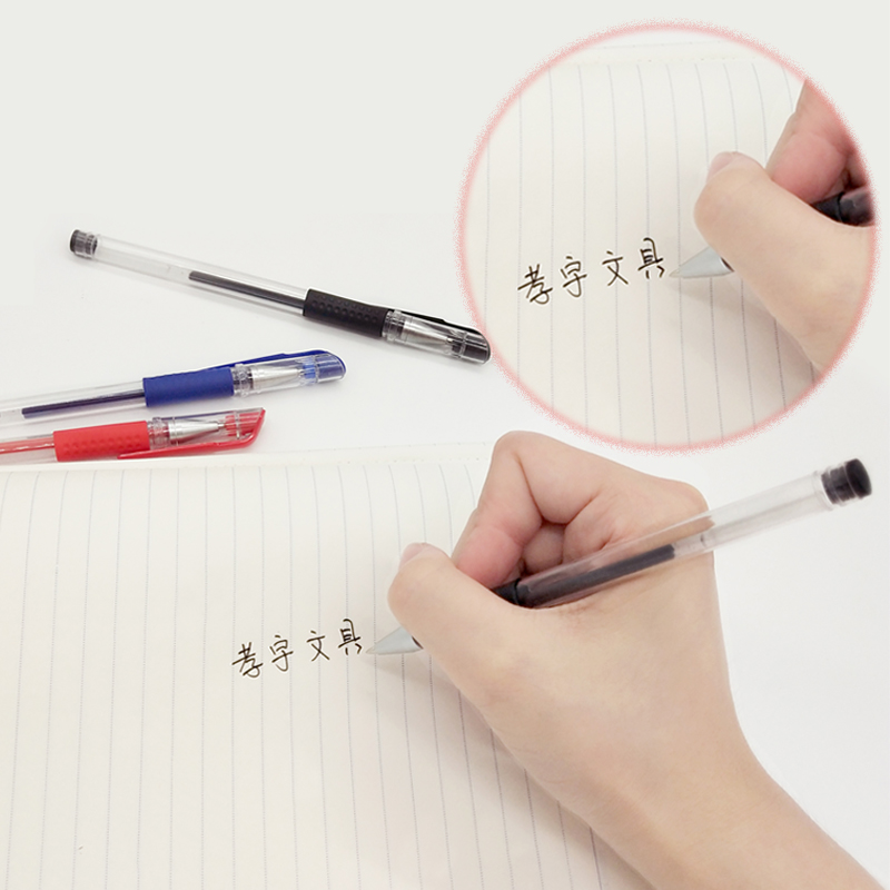 Classic Gel Pen 0 5mm Bullet Cap Pull Examination Pen Smooth Writing Student Office Stationery Red