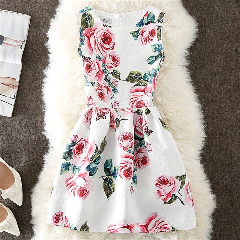 Moda verão vestido feminino a linha flor impressão maxi festa vestidos casuais do vintage elegante sem mangas senhoras vestido q305