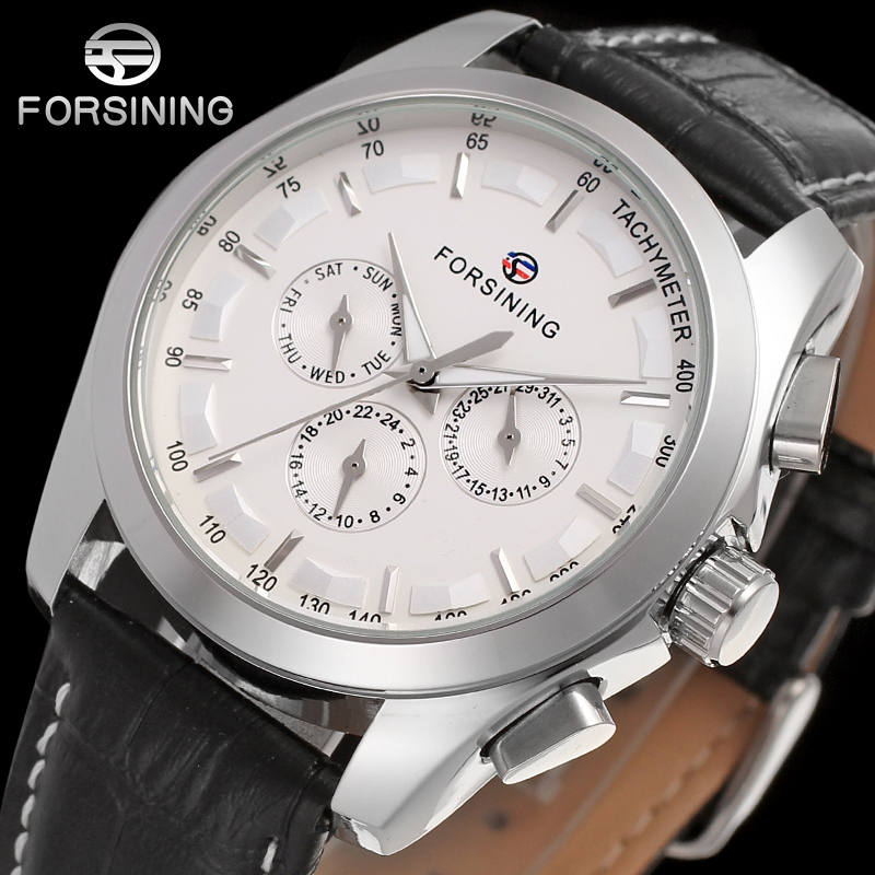 Forsining Men's Watch Automatic Self-wind Movement Genuine Leather Luxury Six Hands Brand New Analogue Wristwatch FSG6625M3S1 автобагажник thule 1039