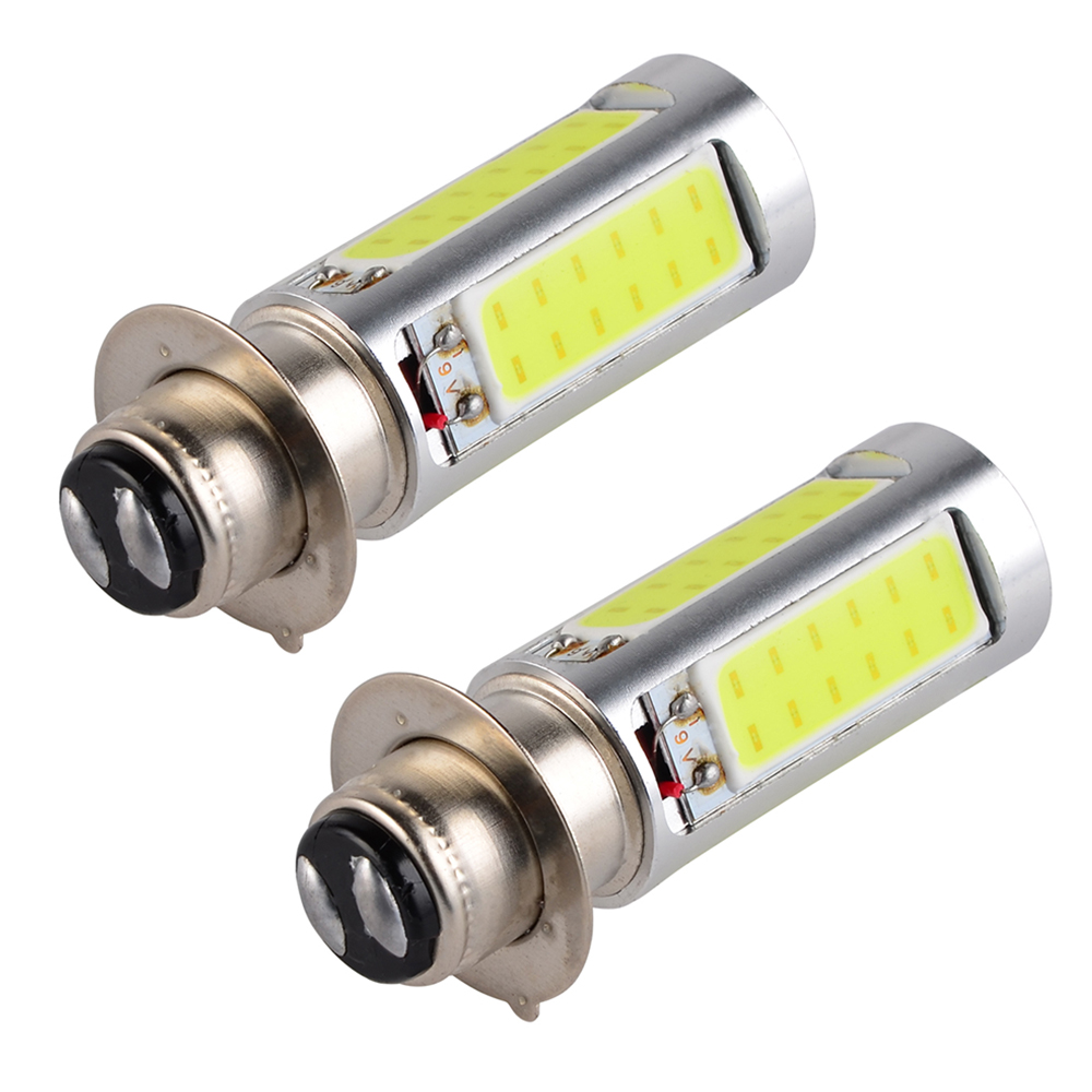 H2CNC 2 Pcs White LED Bulbs H6M H6 HeadLight For Yamaha Rhino 450 660 700 Wolverine 350 450 Timberwolf 250 Kodiak 400 450 4x4 ...