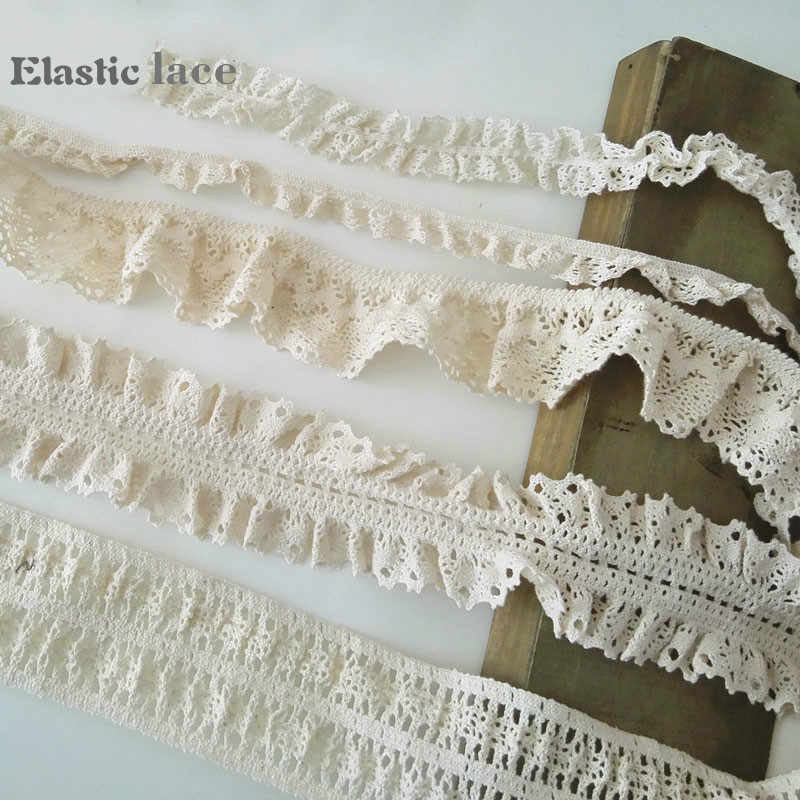 2.6 cm wide DIY Clothing 5 yards soft Elasticity lace ribbon lace Accessories