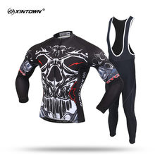 ФОТО xintown pro men long sleeve cycling jersey set mountain bike clothing breathable bicycle jerseys clothes maillot ropa ciclismo