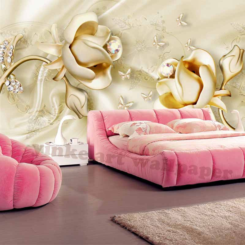 Home Decor 3d photo wallpaper for living room Water Resistant Floral ...