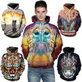 YNM 3d owl/tiger/cat/dinosaur Hoodie all over print hoody sweatshirts men women warm coat hooded outerwear clothing 2016 brand