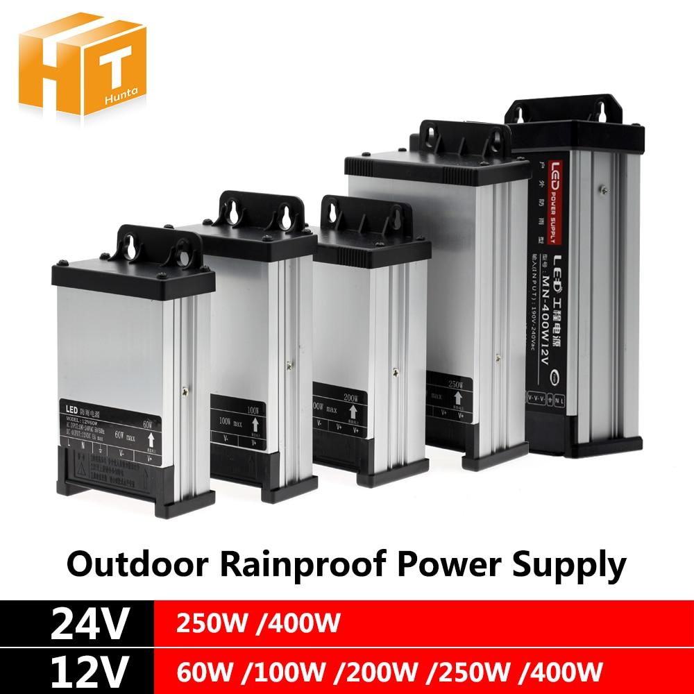 DC12V 24V LED Outdoor Rainproof Power Supply 60W 100W 200W 250W 400W LED Driver Lighting Transformers dc12v 24v led outdoor rainproof power supply 60w 100w 200w 250w 400w led driver lighting transformers