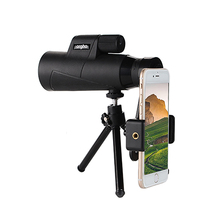 Compact 12x50 Monocular Telescope Black HD Waterproof lll Night Vision Monoculars with Tripod for Outdoor Camping Hunting