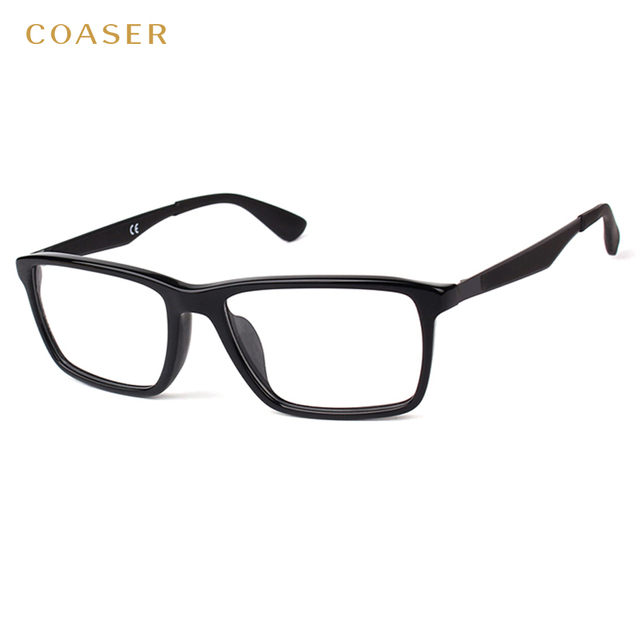 Big Vintage Round Wide Metal Acetate Frame Glasses Men Women Fashion ...