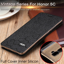 huawei honor play 5c case cover flip mofi for huawei 5C 5.2inch matte leather cover honor5c luxury gold original fundas thin