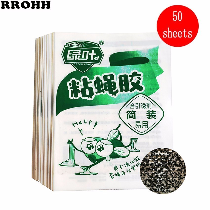 20/50Pcs Green leaf Strong Flies Traps Bugs Sticky Board Catching Aphid Insects Pest Killer Outdoor Fly Trap for Aphids Fungus-in Traps from Home & Garden