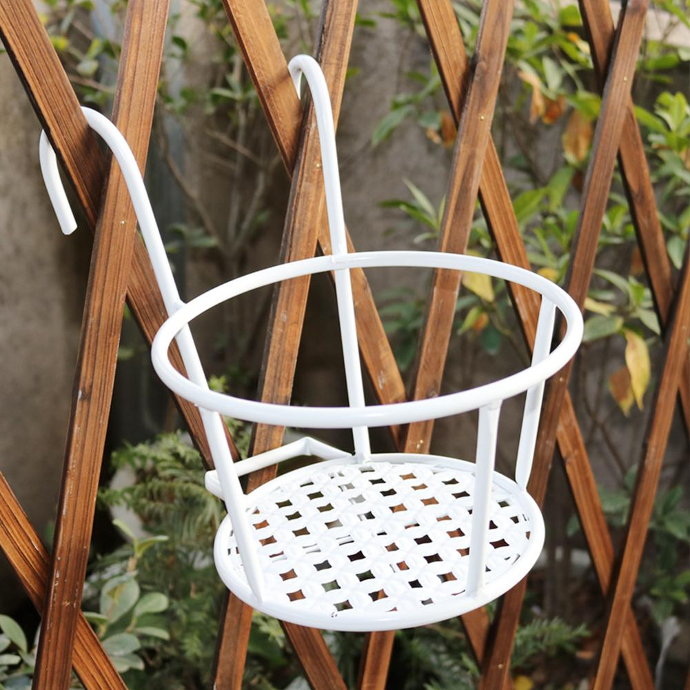 Balcony Flower Frame European Iron Railing Potted Plant Shelf Window Sill Bracket Hanging Pot Planter Stand In Pots Planters