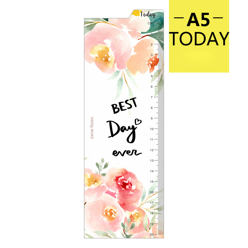 Jamie Notes Original Cute Flower Design 6 Holes Binder Notebook Dividers Index Bookmark Ruler For Dokibook Spiral Planner A5A6