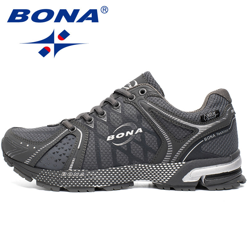 BONA New Waterproof Style Men Running Shoes Outdoor Jogging Walking Sneakers Lace Up Athletic Shoes Comfortable Free Shipping 2016 sale hard court medium b m running shoes new men sneakers man genuine outdoor sports flat run walking jogging trendy