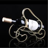 Wine Holder Wine Rack Shelf Metal Sculpture Practical Sculpture Wine stand Home Decoration Interior Crafts Home Decoration