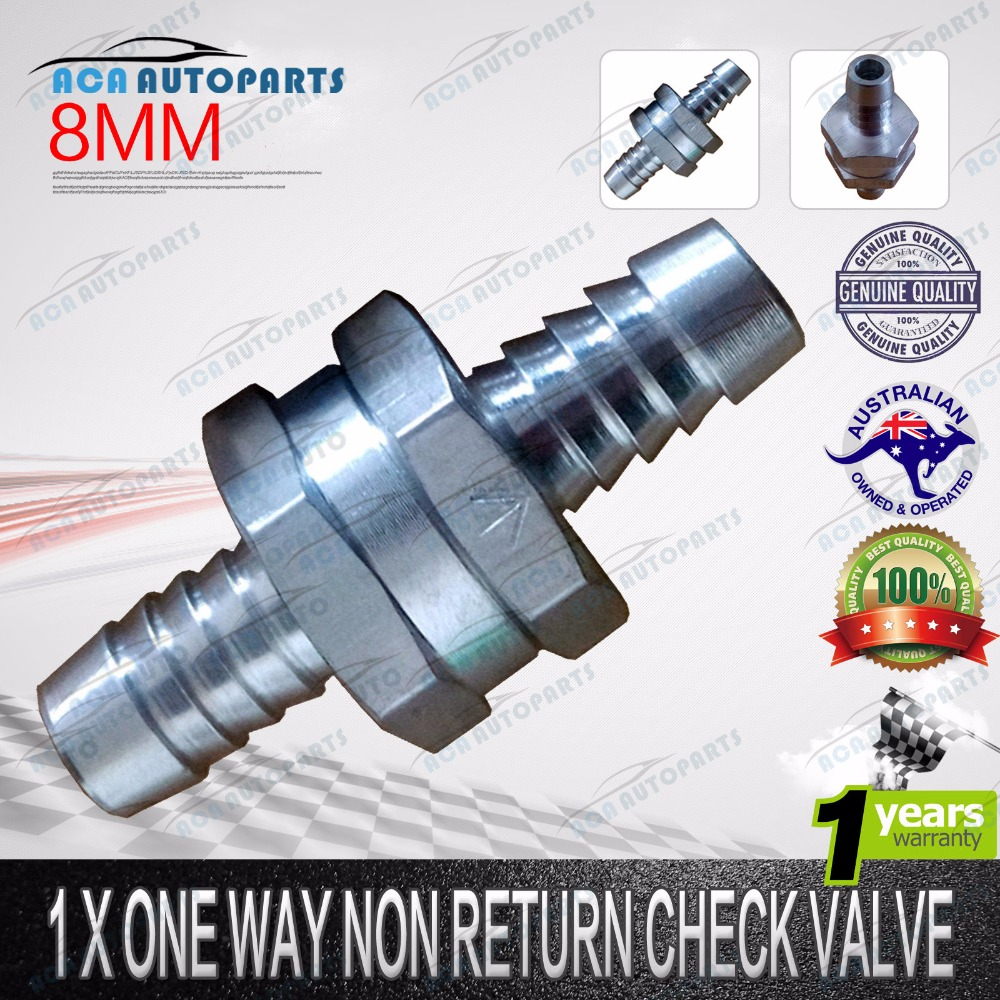 "1*8mm 5//16/"" Fuel Non-Return One Way Check Valve Petrol Diesel Oil Water Aluminum"
