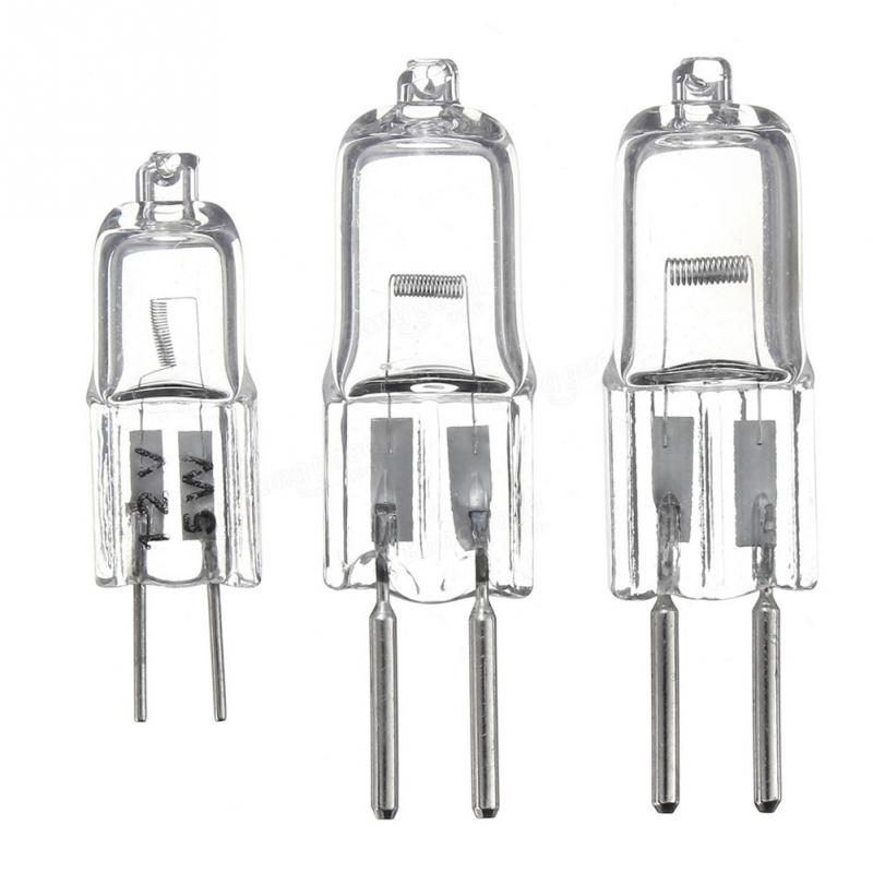 5PCS/Lot G4 12V 20 W Halogen Lamp G4 12V 5W / 10W / 20W Bulb Inserted Beads Crystal Lamp Halogen Bulb Wholesale