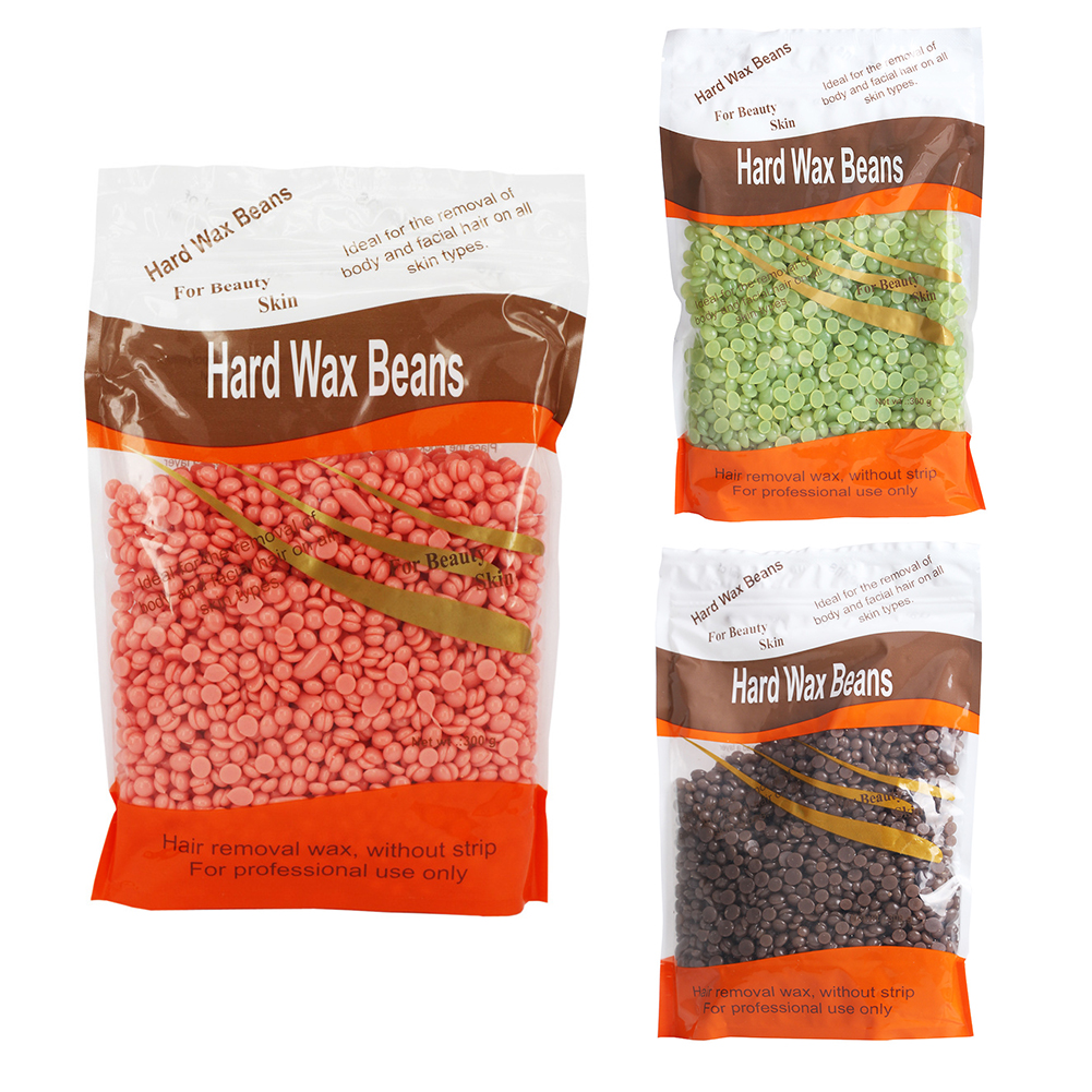 Depilatory Hard Wax Beans Pellet Waxing Body Bikini Hair Removal Beans 300g
