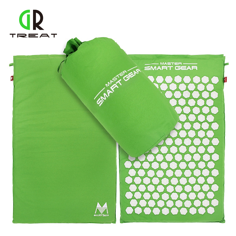 Drop Shipping Lotus Acupressure Mat Foot Massage Mat Acupressure Cushion Fitness Yoga Mat Relief Body Pain
