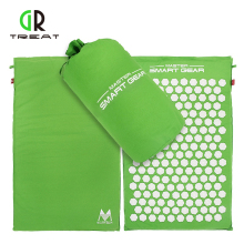 Lotus Spikes Acupressure Mat og Pillow Set Til Natural Relief Of Stress Pain Spension Spike