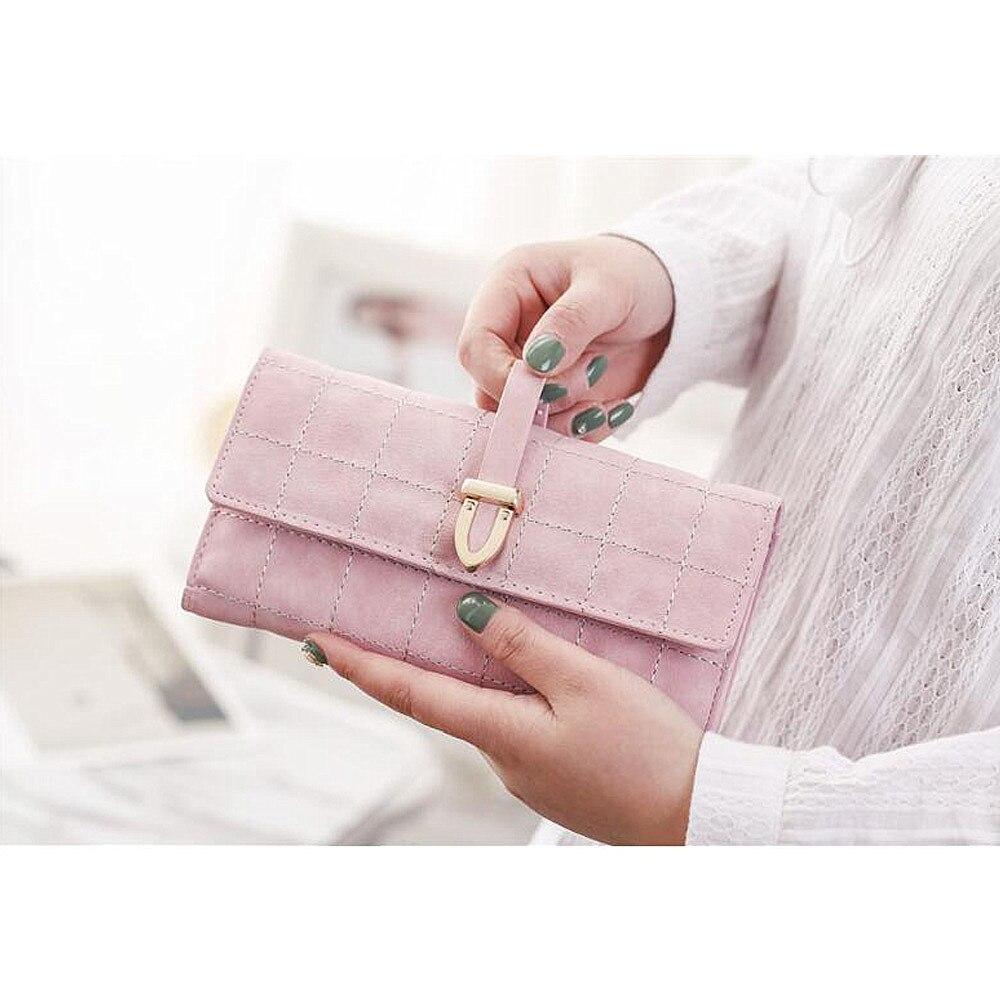 Kvinnor plånbok med kreditkortsinnehavare Telefonhållare Mode - Plånböcker - Foto 5