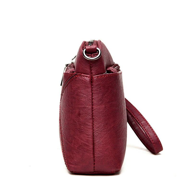 2019 Fashion new designer flap bags women 39 s bag shoulder Sheepskin Leather clutch bag women 39 s mobile phone purse in Clutches from Luggage amp Bags