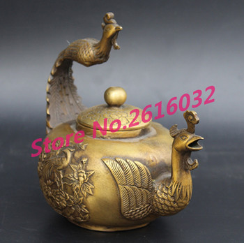 China Old Bronze Phoenix carved pot From China's rural collection